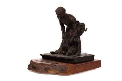 Lot 728 - A LIMITED EDITION BRONZE BY WAYNE STRICKLAND