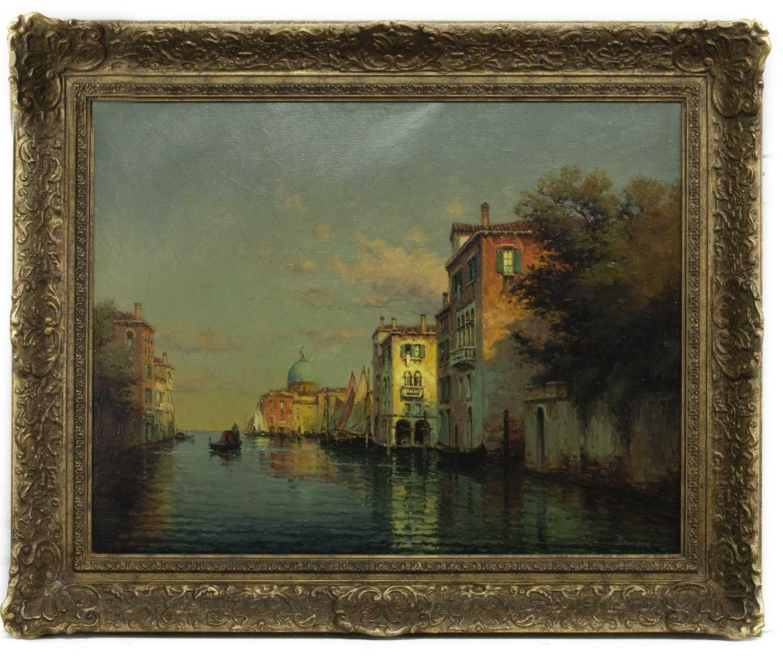 Lot 36 - VENICE, AN OIL BY ANTOINE BOUVARD