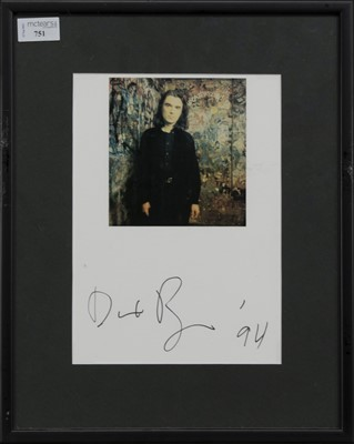 Lot 751 - A PHOTOGRAPH OF DAVID BYRNE