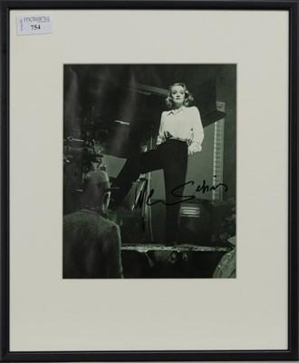 Lot 754 - A PHOTOGRAPH OF MARLENE DIETRICH