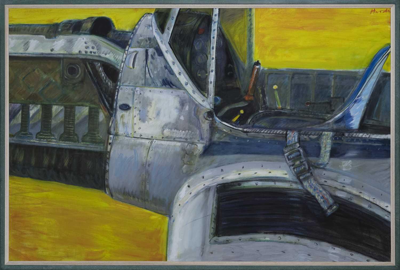 Lot 489 - KITTY HAWK 1901, AN OIL BY JAMES HARDIE