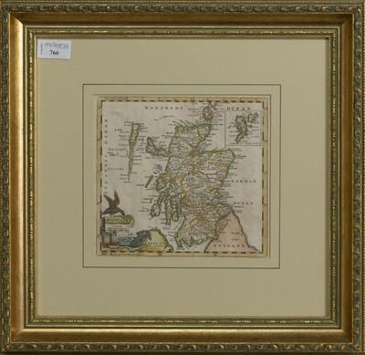 Lot 766 - AN 18TH CENTURY ENGRAVED MAP OF SCOTLAND BY THOMAS JEFFERYS