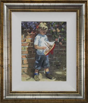 Lot 490 - A TREASURED GIFT, A HAND ENHANCED CANVAS BY SHERREE VALENTINE DAINES