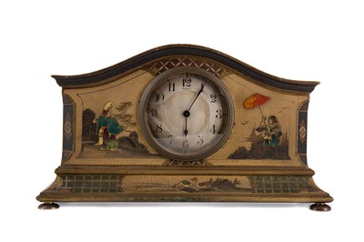 Lot 1112 - AN EARLY 20TH CENTURY CHINOISERIE MANTEL CLOCK RETAILED BY ASPREY