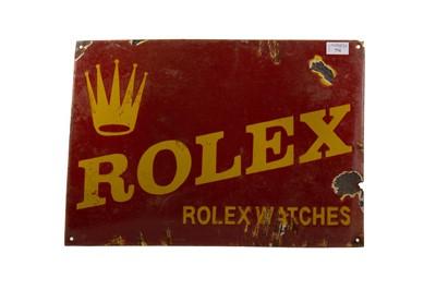 Lot 774 - AN ENAMELLED 'ROLEX' ADVERTISEMENT SIGN