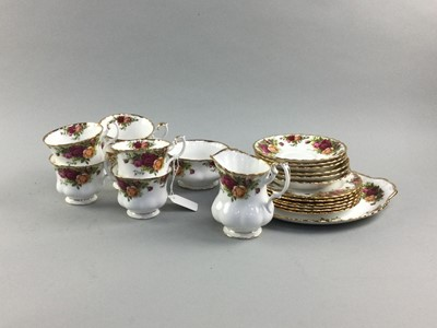 Lot 65 - A ROYAL ALBERT OLD COUNTRY ROSES SIX PLACE TEA SERVICE