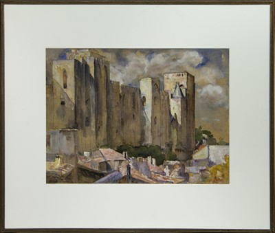 Lot 38 - THE PALACE OF THE POPES, AVIGNON, A WATERCOLOUR BY MADELINE RACHEL WELLS