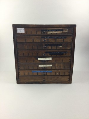 Lot 58 - A STAINED WOOD COLLECTORS
