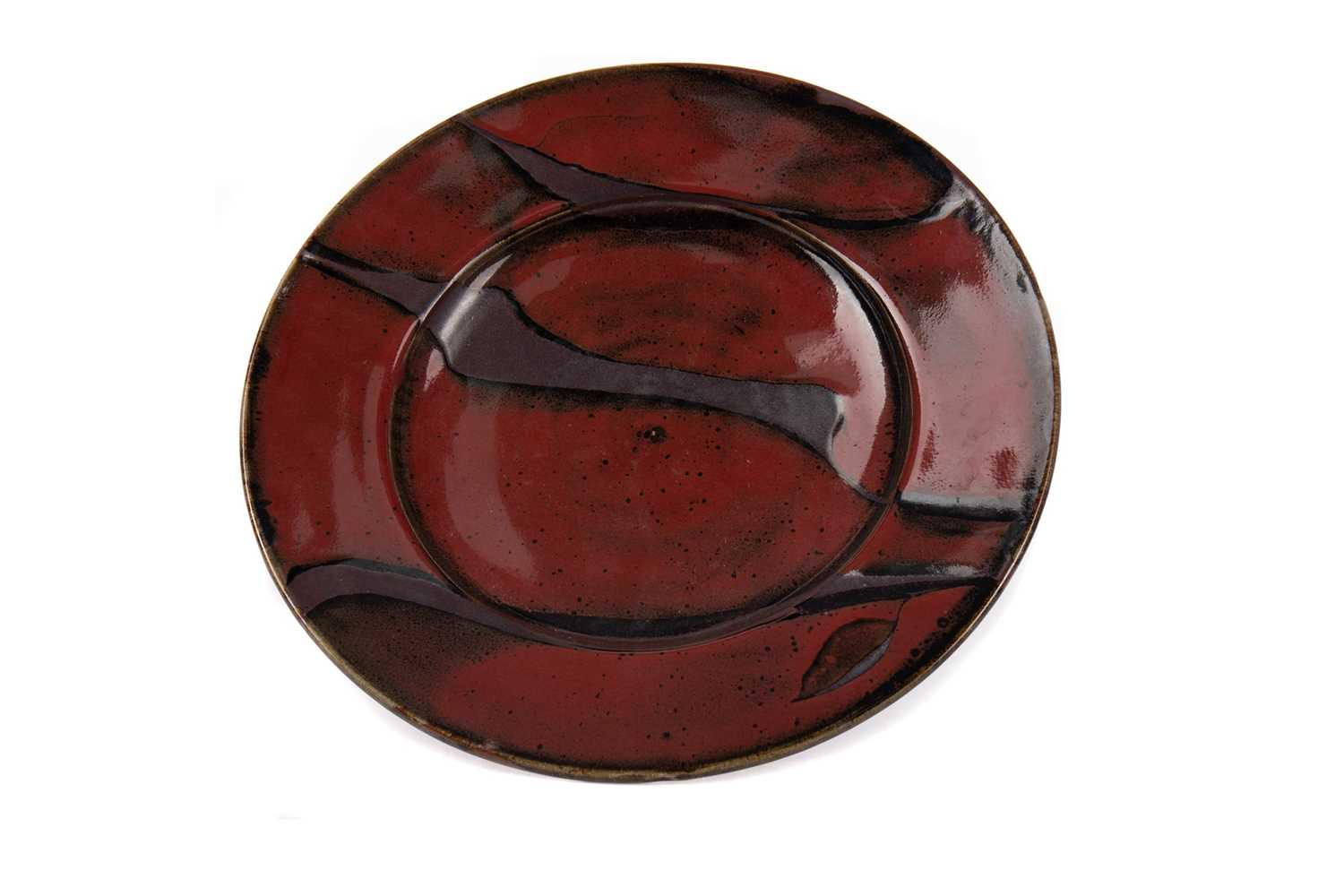 Lot 1031 - DAVID FRITH, BROOKHOUSE STUDIO POTTERY PLATE