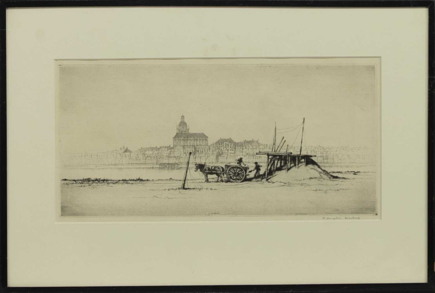 Lot 41 - ON THE TAGUS, AN ETCHING BY WILLIAM DOUGLAS MACLEOD