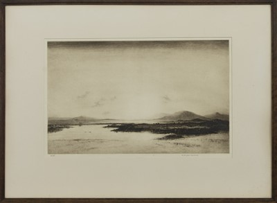 Lot 42 - SUNSET, NORTH UIST, AN ETCHING BY WILLIAM DOUGLAS MACLEOD