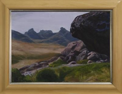 Lot 493 - BEN ARTHUR, AN OIL BY VAL ATKINSON