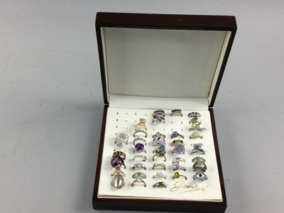 Lot 24 - A COLLECTION OF GEM SET RINGS