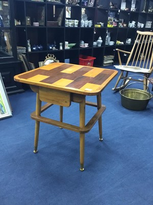 Lot 33 - A MID-CENTURY SQUARE OCCASIOANL TABLE