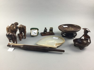 Lot 38 - A COLLECTION OF TREEN ITEMS