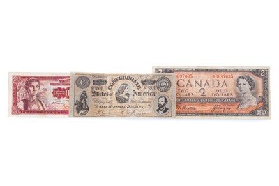 Lot 1 - AN AMERICAN, CANADIAN AND YUGOSLAVIAN BANKNOTE