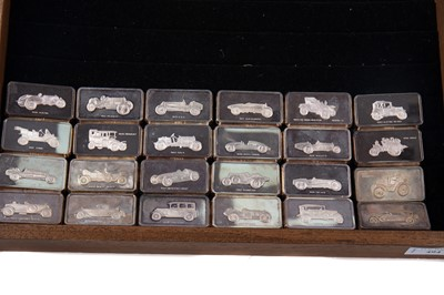 Lot 494 - A SET OF SILVER INGOTS COMMEMORATING 'THE NATIONAL MOTOR MUSEUM AT BEAULIUE'