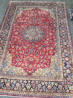 Lot 1845 - PERSIAN HAND KNOTTED WOOL CARPET