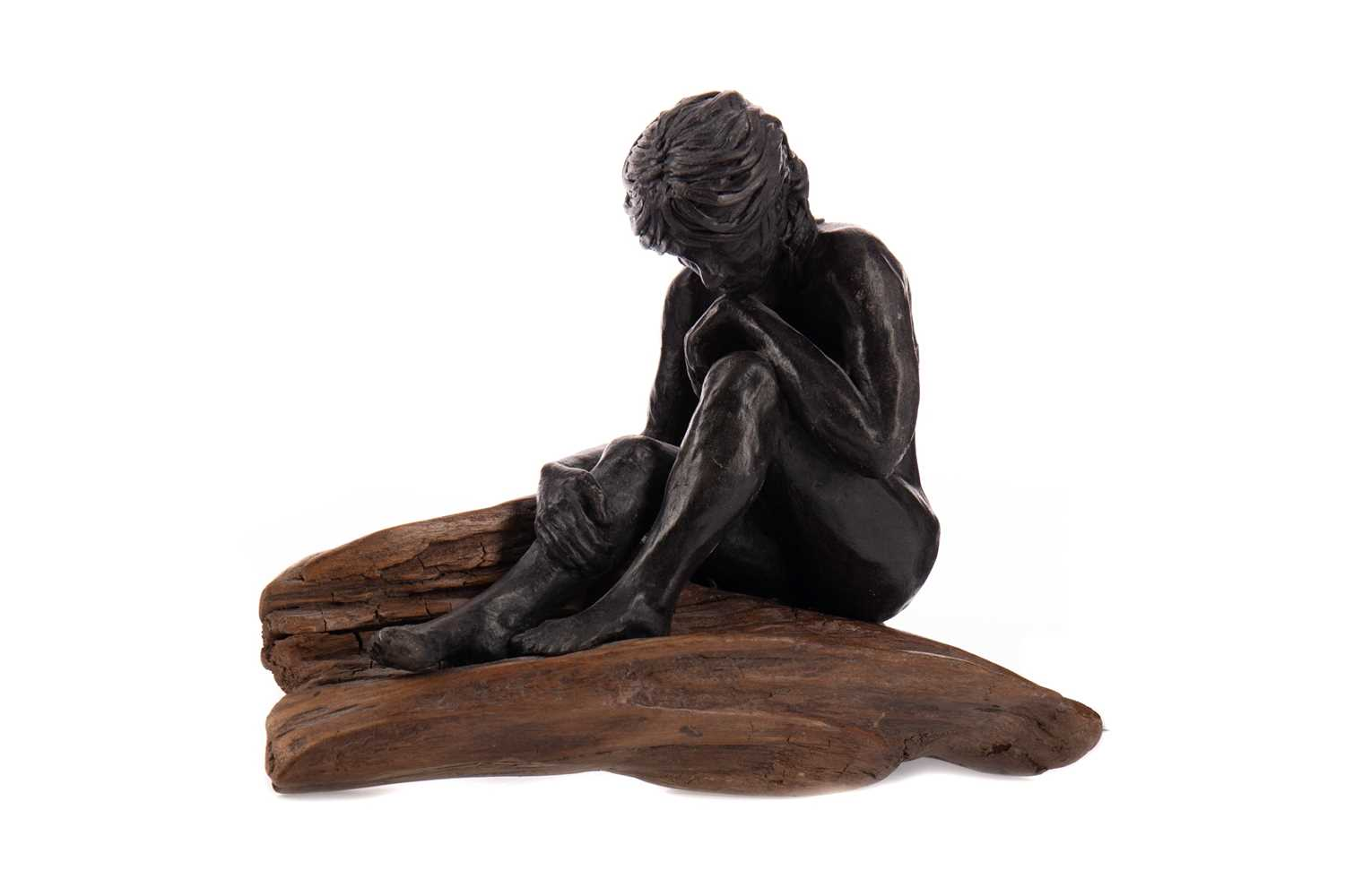Lot 796 - DEEP IN THOUGHT, A SCULPTURE BY ANNE MORRISON