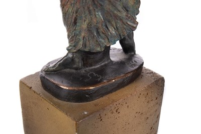 Lot 794 - THE WORLD IN HER HANDS, A CONTEMPORARY SCULPTURE