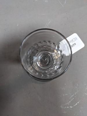 Lot 1059 - A GEORGE III CORDIAL GLASS