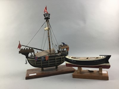 Lot 68 - FIFE FISHING BOAT,  A SCRATCH BUILT MODEL AND ANOTHER