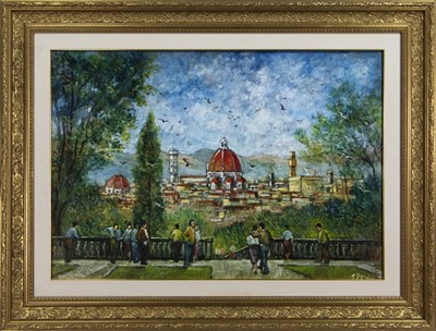 Lot 502 - FLORENCE, AN OIL BY MARIANO MAGNINI