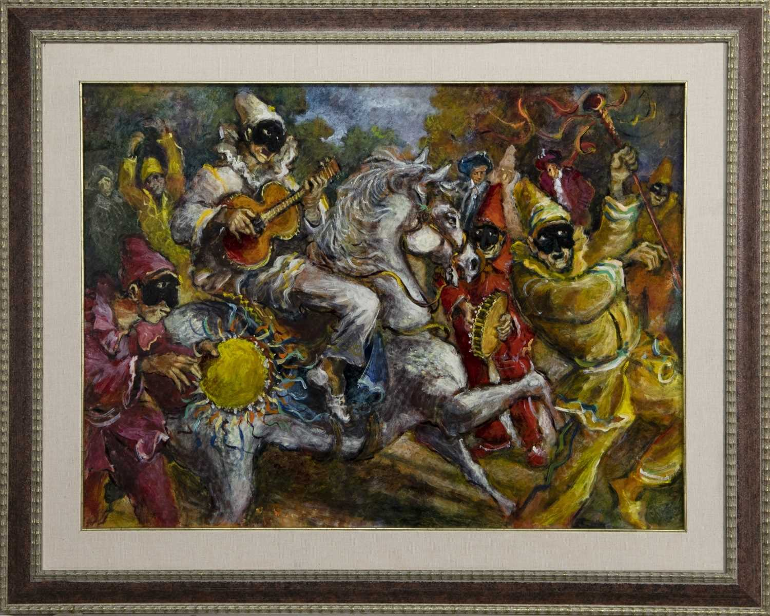 Lot 503 - PLAYING A TUNE, AN OIL BY MARIANO MAGNINI