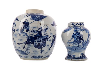 Lot 1859 - AN EARLY 19TH CENTURY CHINESE BLUE AND WHITE BALUSTER VASE AND ANOTHER