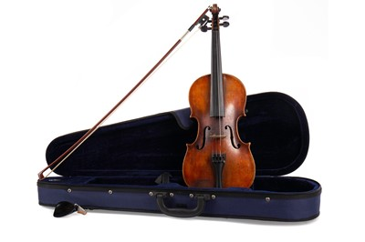 Lot 798 - A VIOLIN AND BOW IN CASE