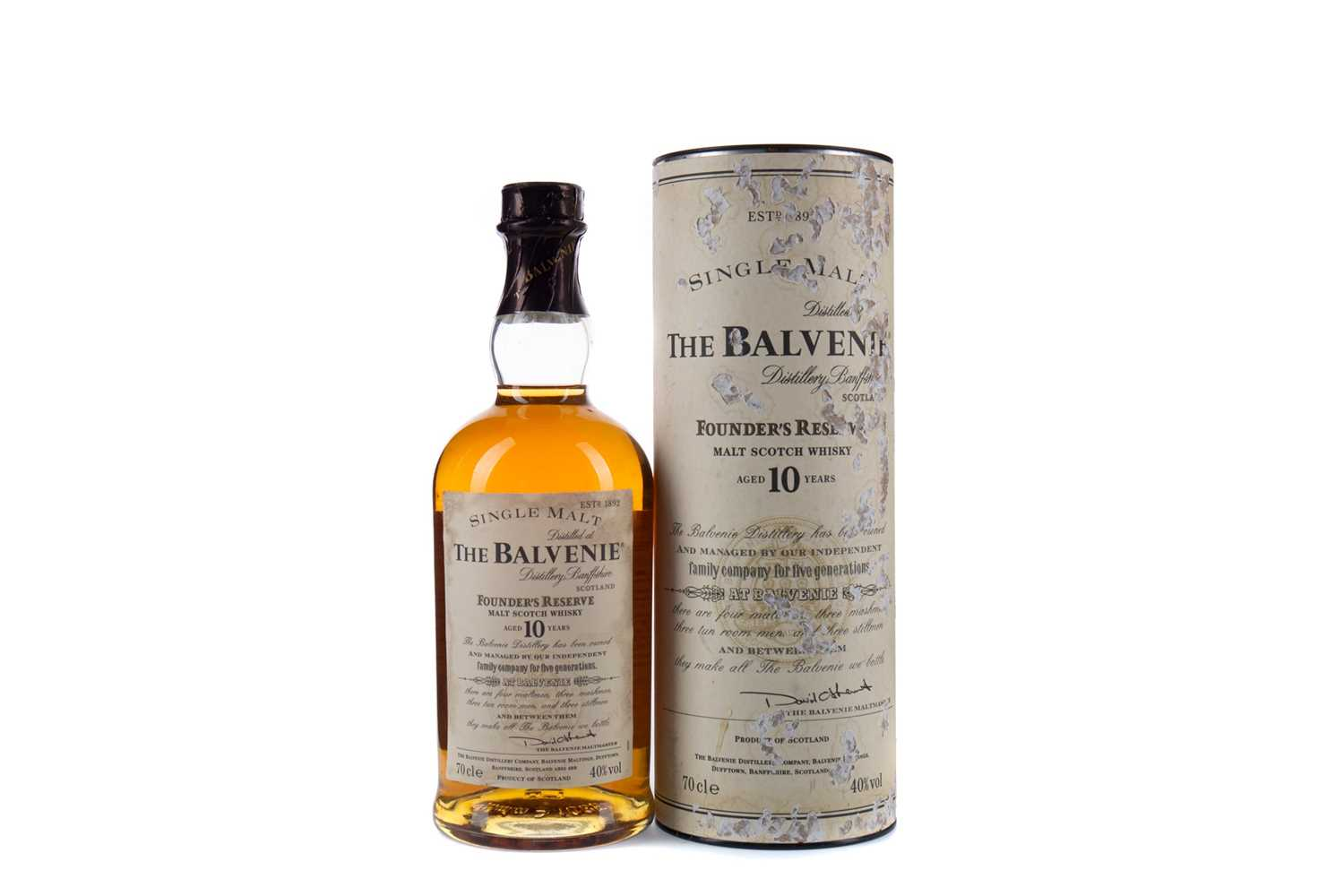 Lot 4 - BALVENIE FOUNDER'S RESERVE AGED 10 YEARS