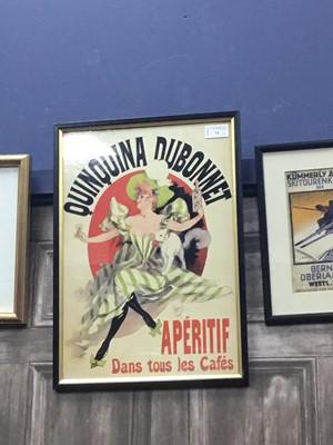 Lot 74 - QUINQUINA DUBONNET APERITIF DANS TOUS LES CAFES ADVERTISEMENT BOARD ALONG WITH ANOTHER