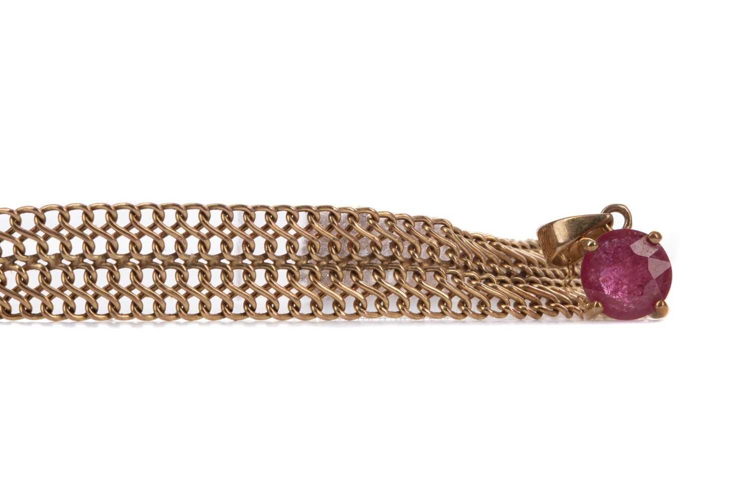 Lot 1373 - TWO GOLD NECKLACES AND A BRACELET
