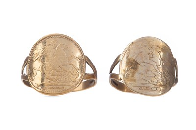 Lot 1377 - TWO ST GEORGE RINGS