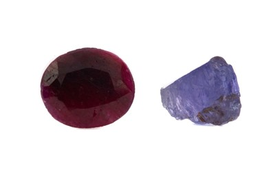 Lot 1364 - **TWO CERTIFICATED UNMOUNTED GEMSTONES
