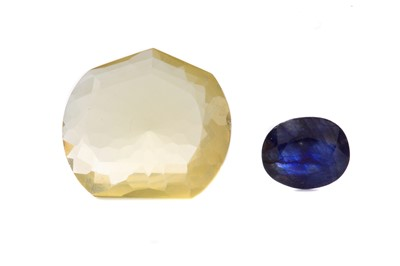Lot 1429 - **TWO CERTIFICATED UNMOUNTED GEMSTONES