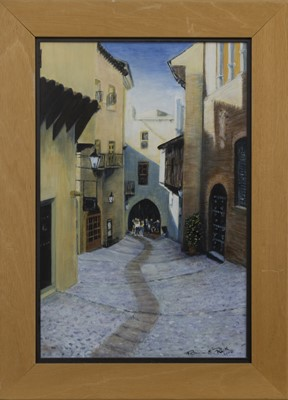 Lot 511 - LOOKING DOWN, AN OIL BY PATRICIA REITH