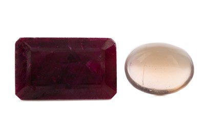 Lot 1444 - **TWO CERTIFICATED UNMOUNTED GEMSTONES