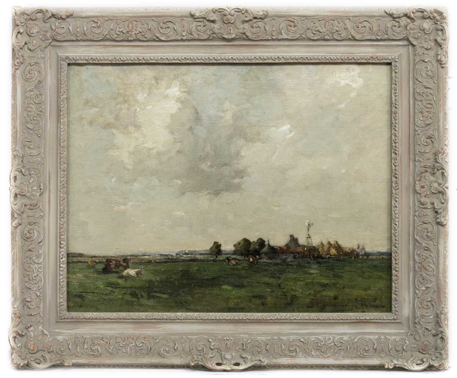 Lot 48 - AN UNTITLED OIL BY JOHN MACLAUCHLAN MILNE