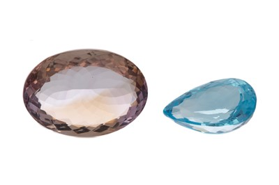 Lot 1467 - **TWO CERTIFICATED UNMOUNTED GEMSTONES
