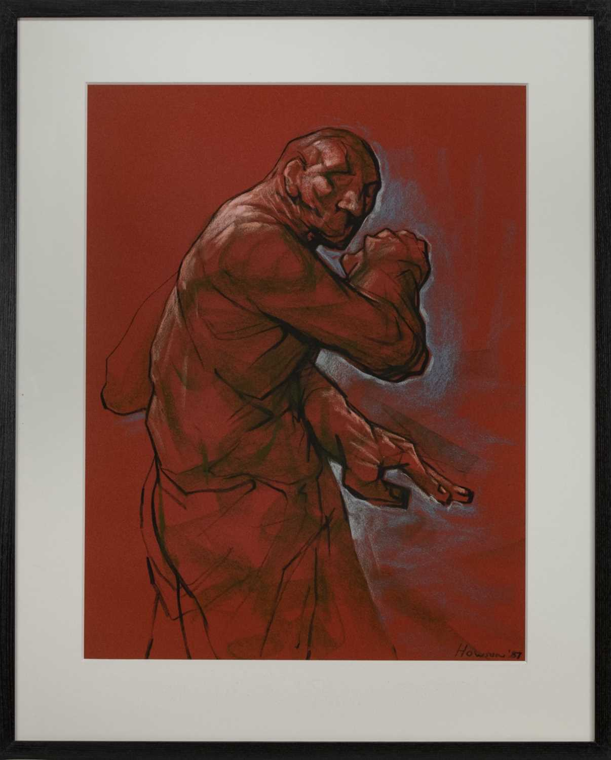 Lot 507 - BAR 67 (STUDY), A PASTEL BY PETER HOWSON