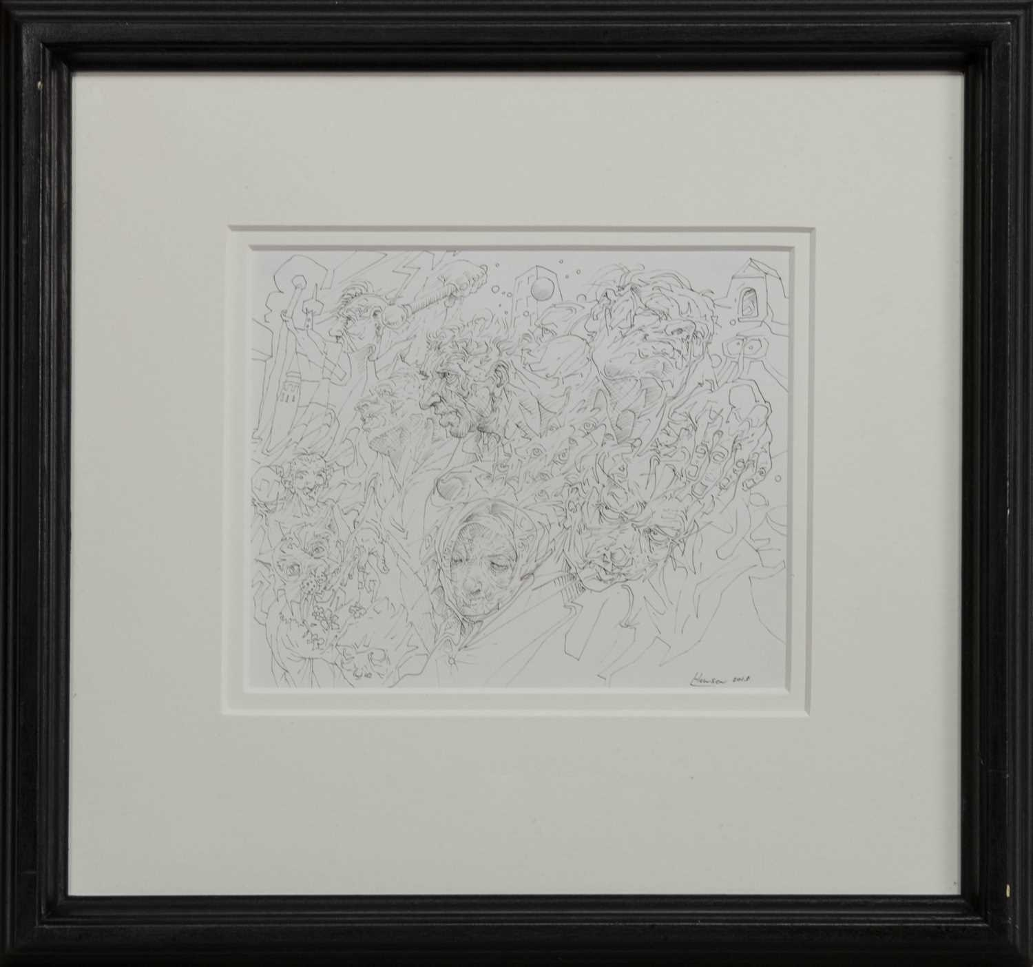 Lot 508 - UNTITLED NO. 32, 2015, AN INK BY PETER HOWSON