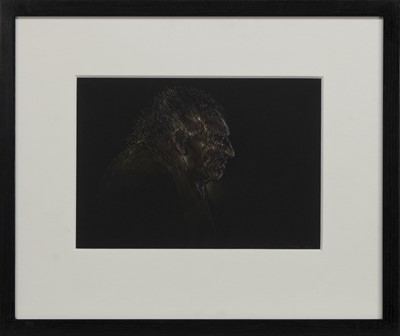 Lot 509 - WINTER, A PASTEL BY PETER HOWSON