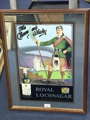 Lot 89 - A ROYAL LOCHNAGAR WHISKY ADVERTISING MIRROR