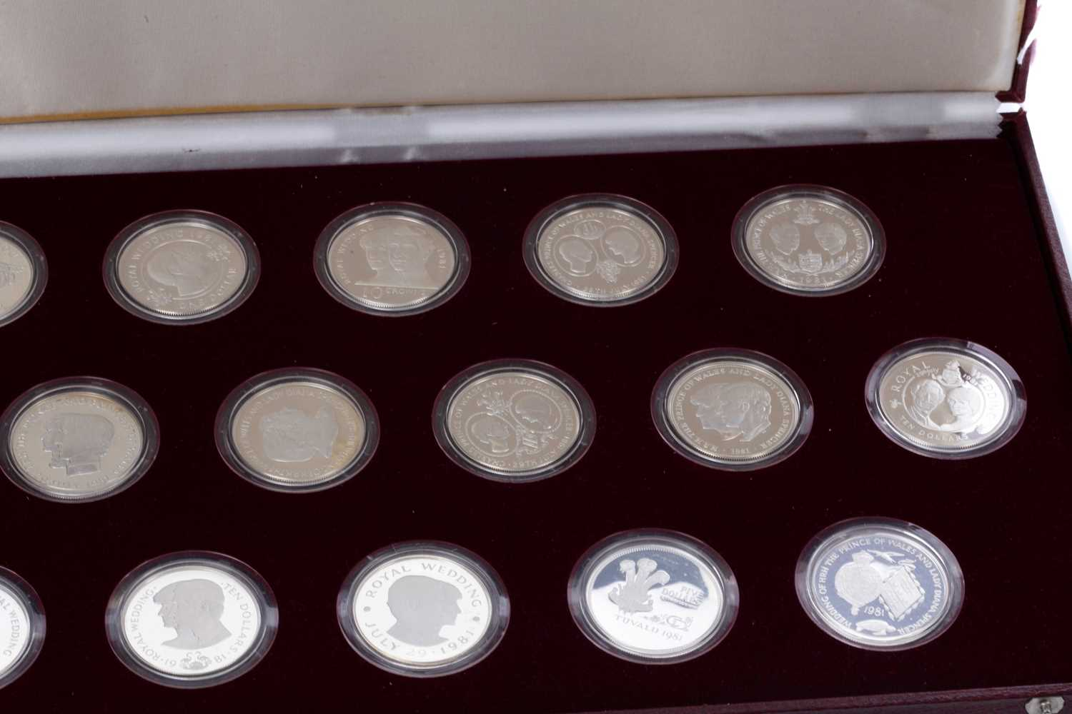 Lot 3 - THE 1981 ROYAL MARRIAGE COMMEMORATIVE STERLING SILVER COIN COLLECTION