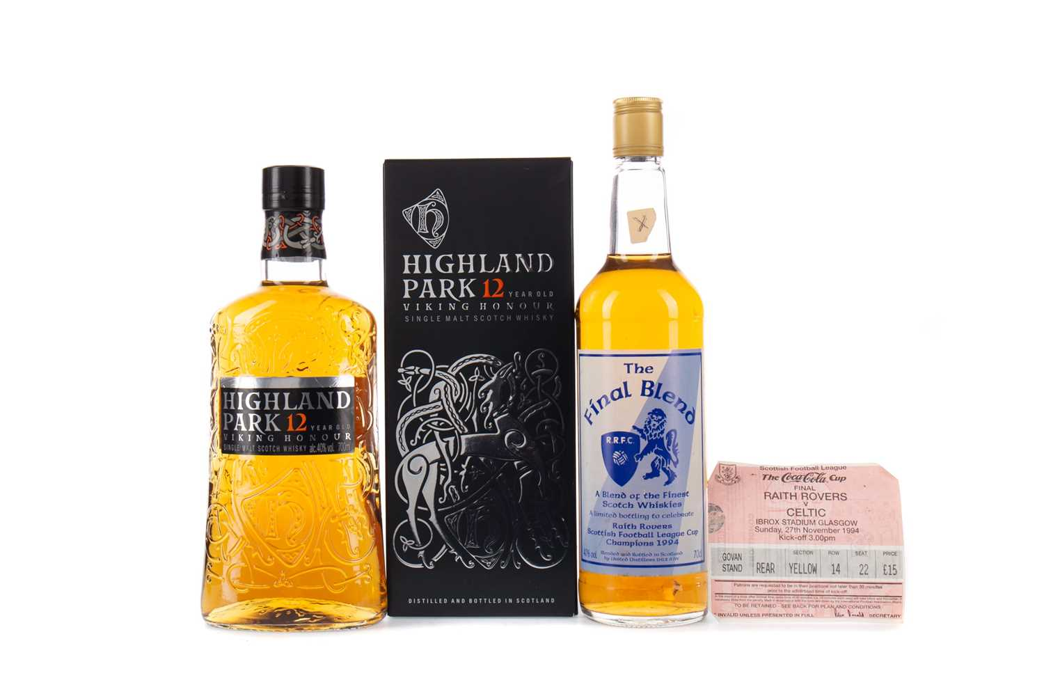 Lot 24 - HIGHLAND PARK 12 YEARS OLD, AND THE FINAL BLEND