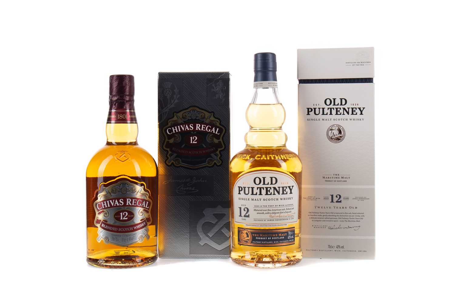 Lot 41 - OLD PULTENEY AGED 12 YEARS, AND CHIVAS REGAL AGED 12 YEARS