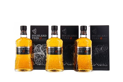 Lot 42 - THREE BOTTLES OF HIGHLAND PARK AGED 12 YEARS