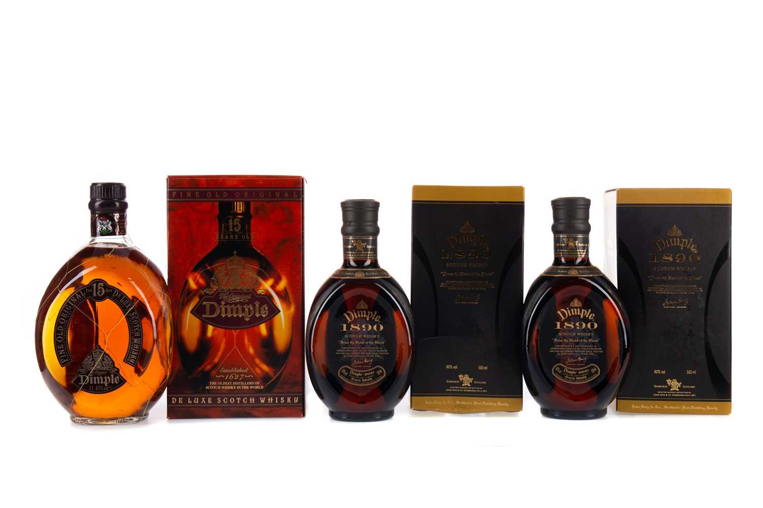 Lot 44 - ONE LITRE OF DIMPLE  15 YEARS OLD AND TWO BOTTLES OF DIMPLE 1890