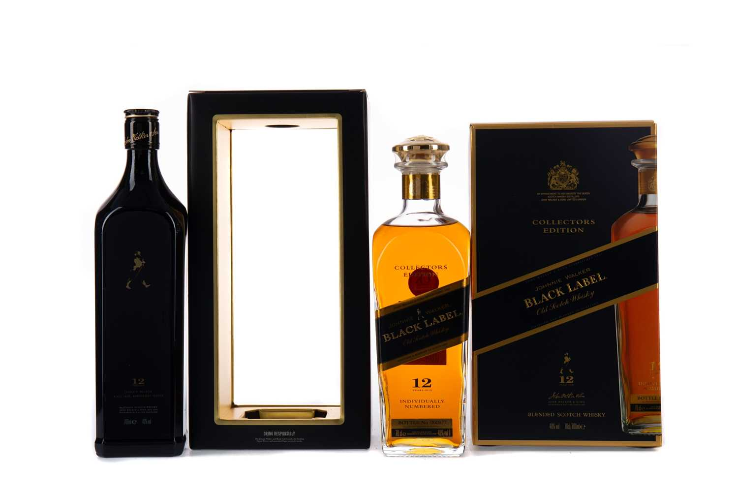 Lot 48 - JOHNNIE WALKER BLACK LABEL COLLECTORS EDITION, AND ANNIVERSARY EDITION